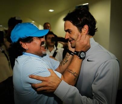 Federer - Maradona - 2013 Dubai